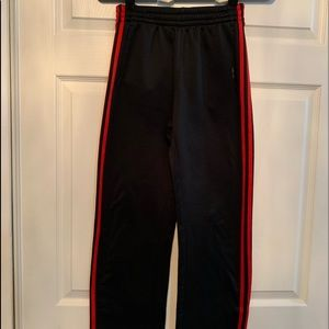 Boys black and red Adidas Sweatpants